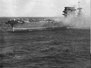 El USS Lexington localizado a las afueras de Australia