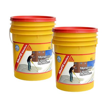Sikafill Elástico Membrana Liquida Sika 20 + 20 Kgs