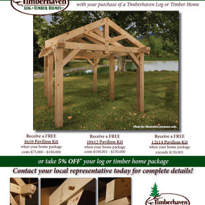 FREE TIMBER FRAME PAVILION KIT