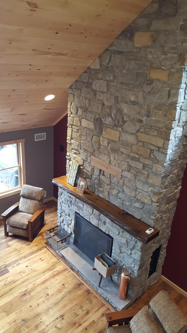 Fireplace from Loft