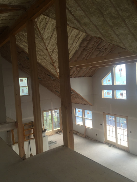 Loft View mid-construction