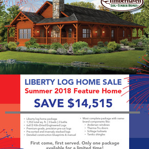 2018 SUMMER FEATURE – THE LIBERTY LOG CABIN HOME