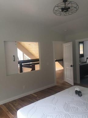 Bedroom View of Barn Door Slider