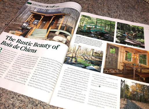 BOIS DE CHIENS (WOODS OF DOGS): HOME OF UNIQUE LOG CABIN