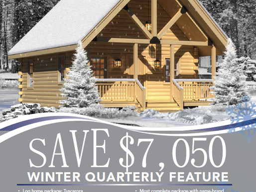 2018 Winter Feature Home Tuscarora from Timberhaven Log & Timber Homes!