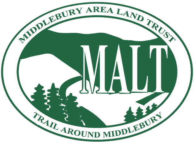 Logo of Middlebury Area Land Trust (MALT) and the Trail Around Middlebury (TAM)