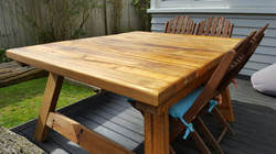 Splayed Outdoor Table