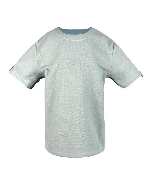[前幅] 初 男童 | 薄荷綠針織粒粒絨布 | 深灰色拉鍊