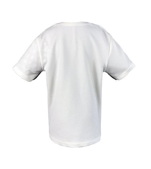 [後幅] 初 男童 | 白色斜紋布 | 深灰色拉鍊
