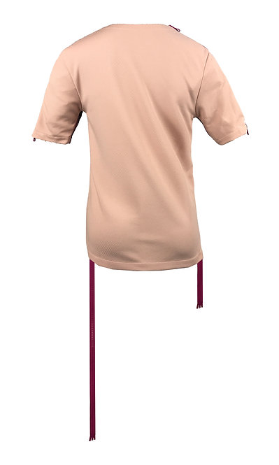 [後幅] 初 女裝 | 粉紅色斜紋布 | 紫色塑膠拉鍊