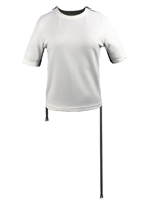 [前幅] 初 女裝 | 白色斜紋布 | 深灰色塑膠拉鍊
