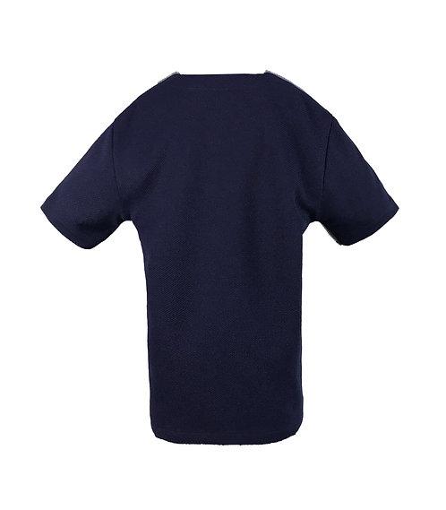[後幅] 初 男童 | 深藍色斜紋布 | 灰藍色拉鍊