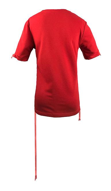 [後幅] 初 女裝 | 紅色斜紋布 | 深粉紅色塑膠拉鍊