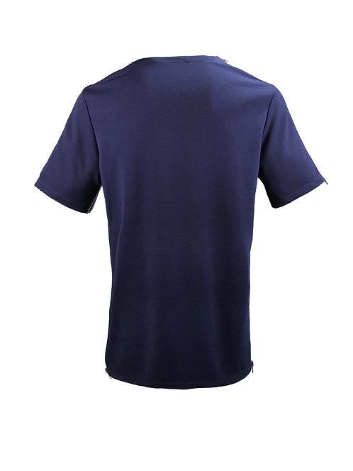 [後幅] 初 男裝 | 藍色斜紋布 | 灰藍色塑膠拉鍊