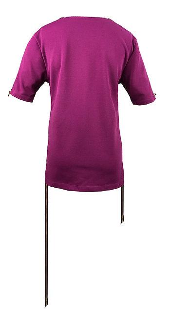 [BACK] Origin Women | Fabric - Violet | Zipper - Plum Gold Metal