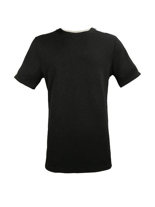 [前幅] 初 男裝   黑色斜紋布   深紅色塑膠拉鍊
