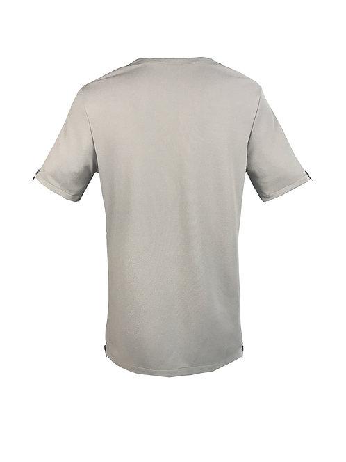 [後幅] 初 男裝 | 灰色斜紋布 | 灰藍色塑膠拉鍊