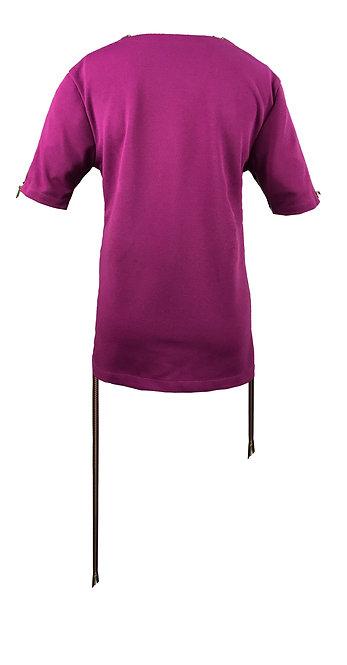 [後幅] 初 女裝 | 紫色斜紋布 | 深紫色金屬拉鍊