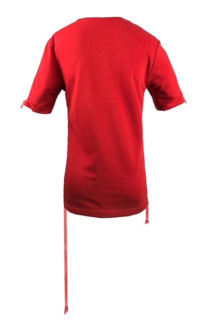 [BACK] Origin Women | Fabric - Red | Zipper - Pink Vislon