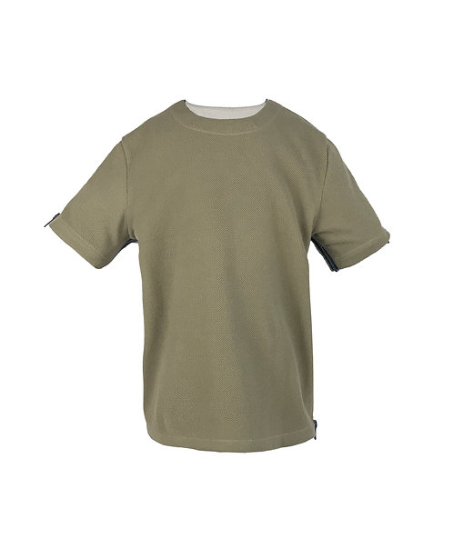 [FRONT] Origin Boy | Fabric - Grain Atrovirens | Zipper - Navy Vislon