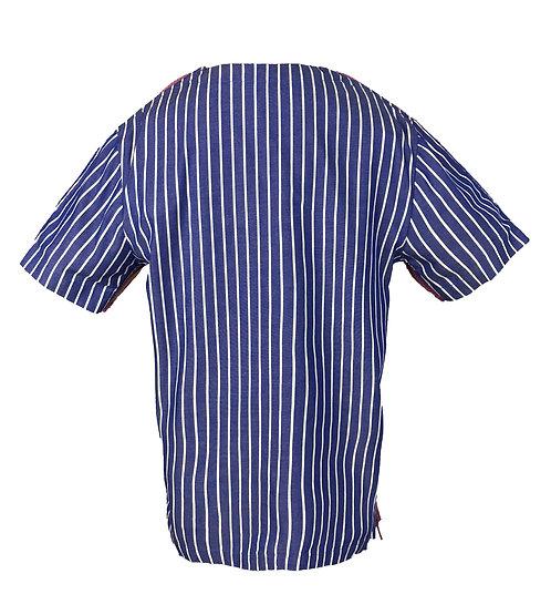 [BACK] Mutant Girl | Fabric - Blue and White Stripe | Zipper - Lilac Vislon