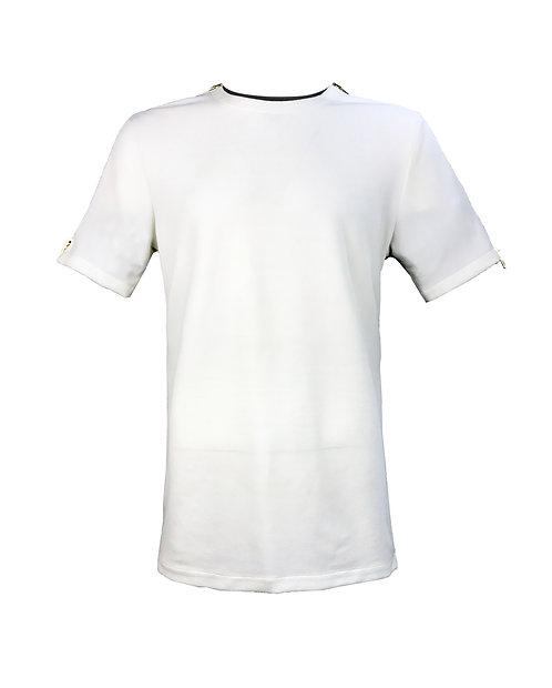 [前幅] 初 男裝 | 白色斜紋布 | 金屬拉鍊