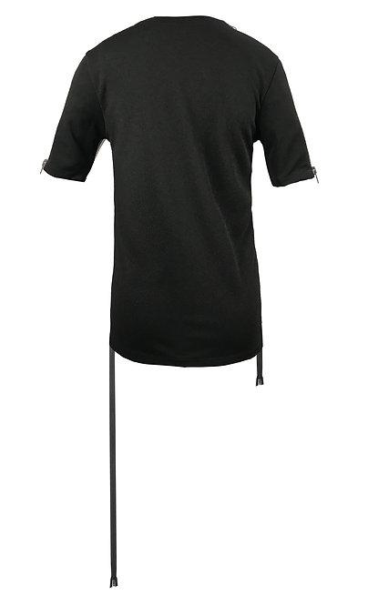 [後幅] 初 女裝 | 黑色斜紋布 | 深灰色塑膠拉鍊