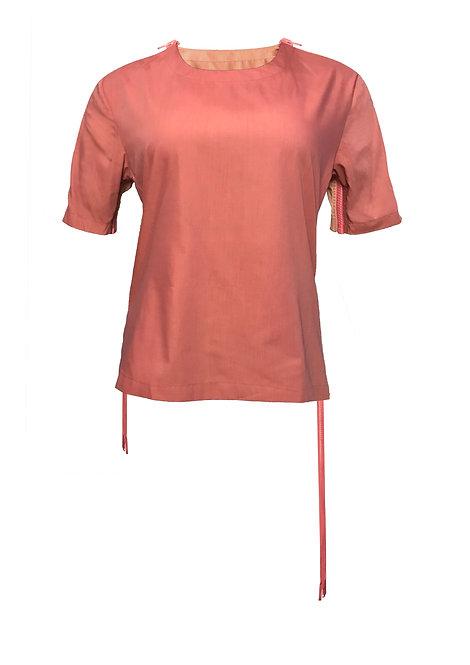 [FRONT] Mutant 2 Women | Fabric - Orange & Blue Stripe | Zipper - Pink Vislon