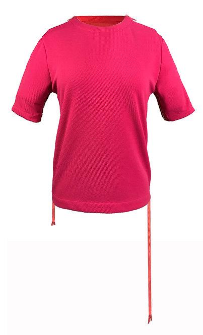 [前幅] 初 女裝 | 桃紅色 斜紋布 | 深粉紅色塑膠拉鍊