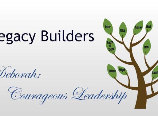 July 26, 2020 Service: Deborah: Courageous Leadership (Replay)