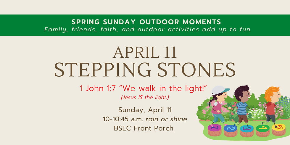 Spring Sunday Outdoor Moments - Stepping Stones