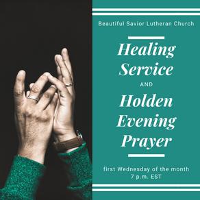 Upcoming Healing Worship Service November 4