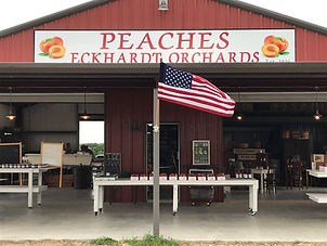 Peaches Eckhardt Orchards Stand