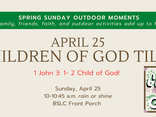 Spring Sunday Outdoor Moments - Child of God Plaques