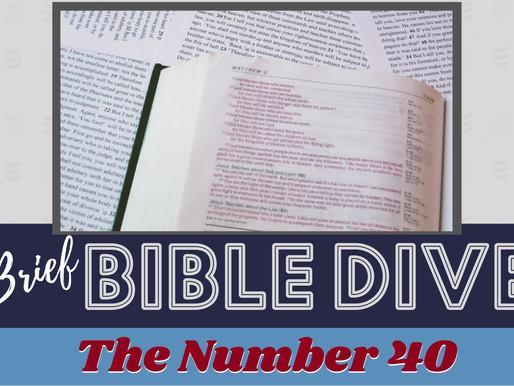 Brief Bible Dive with Pastor Nik