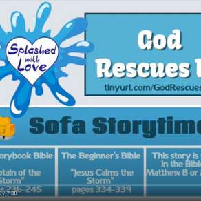 Splashed With Love: God Rescues Us