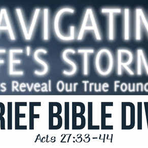 Brief Bible Dive with Pastor Nik