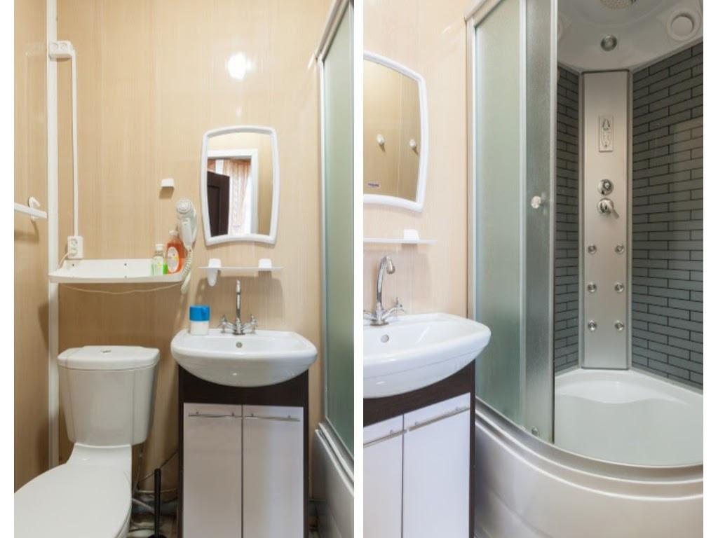 № 3 (Двухкомнатный) Ванная комната в номере.