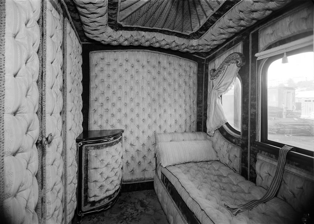 Железные дороги Португалии, интерьер королевского вагона