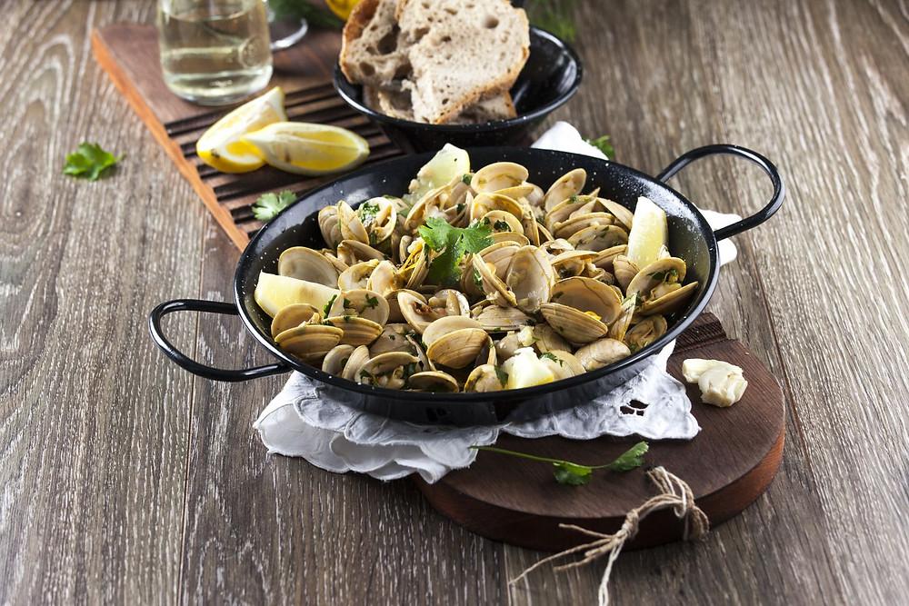 Главные блюда Португалии, ракушки