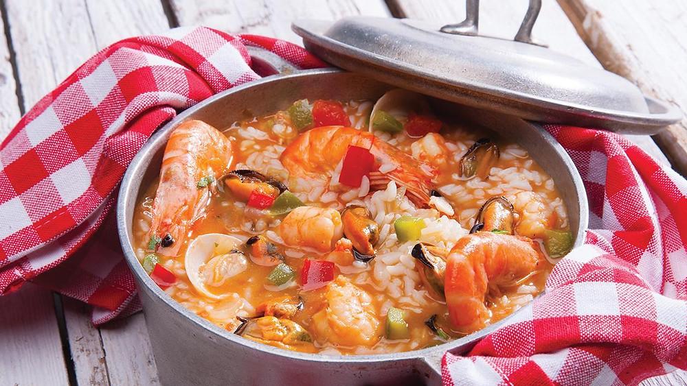 Главные блюда Португалии, арош де маришку