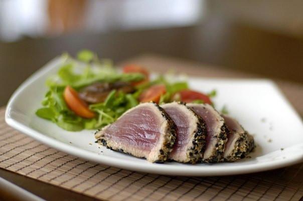 жареный тунец, португальская кухня, рецепт