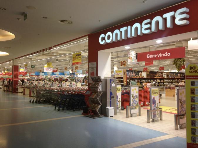 Cупермаркет Continente, шоппинг в Португалии