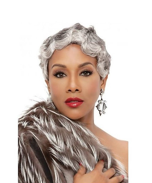 MAYA  is a very short finger wave style with tapered back.