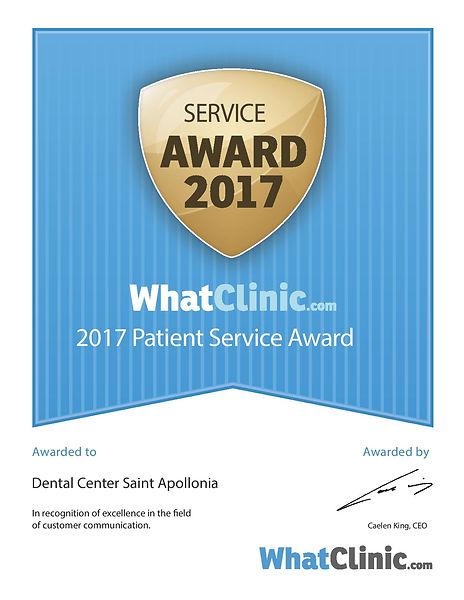 Международно призната награда за отлично представяне в сферата на комуникацията с пациентите.