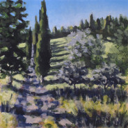 Borgo Pignano No6 - 40.2 cm x 40.2 cm - Acrylic paint on plywood
