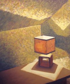 2012 - room 6 - Table light - 30 cm x 36 cm - oil on board