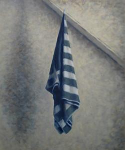 2012 - Room 6 - Towel - 36 cm x 42.8 cm - oil on board