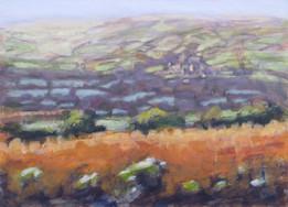 Bonehill No3 - 20.7 cm x 28.7 cm - Acrylic paint on card