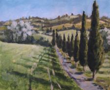 Borgo Pignano No7 - 41 cm x 50 cm - Acrylic paint on plywood